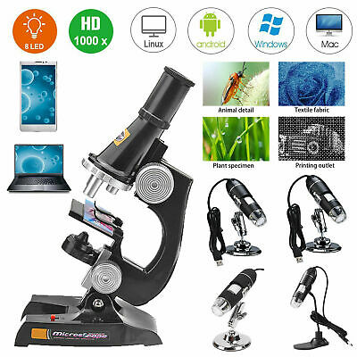 40X-1600X Digital Microscope Camera 8LED USB2.0 Magnification Endoscope + Holder