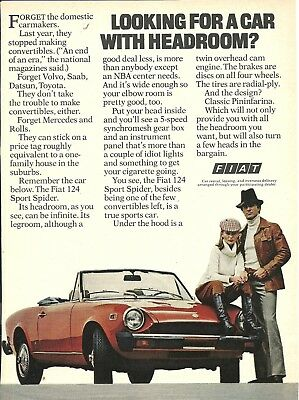 Fiat 5 print ads Playboy Time Car and Driver 1966-1977
