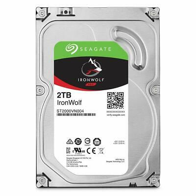 "Seagate IronWolf 2TB SATA 3.5"" NAS Internal Hard Drive 5900rpm ST2000VN004"