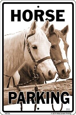Horse Parking Sign NEW 10x15 Metal