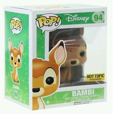 Flocked Bambi 94 Funko Pop Vinyl New in Mint Box + Protector
