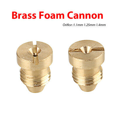 1.1mm/1.25mm/1.4mm Orifice Brass Screw Nozzle Tips for Snow Foam Cannon Lance