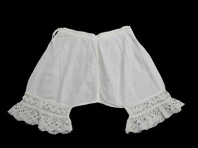 Antique Edwardian or 1920s Girls Lace Trimmed Drawers, Knickers