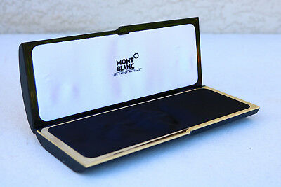 Vintage Montblanc Pen Case Fountain Rollerball Ballpoint Gloss Black Holland  IT