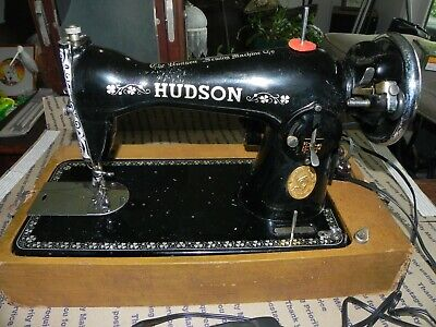 Rare/Vintage/Antique - Rare Hudson Portable Sewing Machine - Beautiful