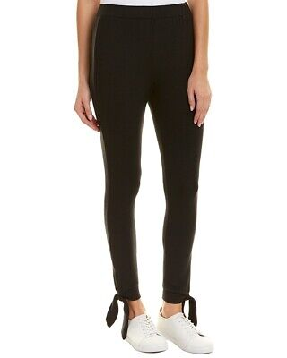 BB Dakota Women Black Jazlyn Pants Sz Small Tie Bottom  Pull-On Knit Joggers NWT