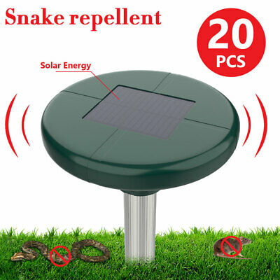 20x Snake Repeller Solar Panel Waterproof Multi Pulse Repellent Rodent Rabbits