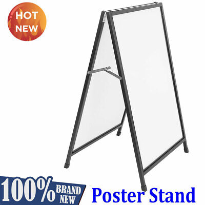 Double Side Insert A Frame/Sandwich Board Advertising Display Poster Stand Black