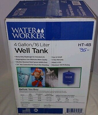 Water Worker In-Line Pre-Charged Well Pressure Tank 4.4 gallon NEW