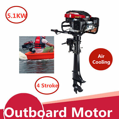 4 Stroke 7HP Outboard Motor 196CC Fishing Boat Engine W/Air Cooled CDI System