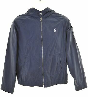 POLO RALPH LAUREN Boys Over Jacket 14-15 Years Large Blue Cotton  HE06