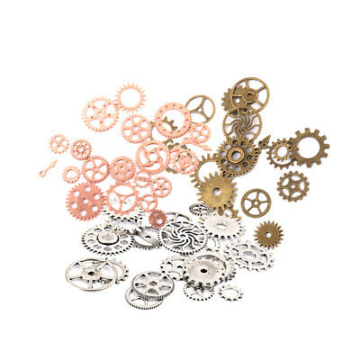25g//50g Mixed pack of Steampunk cogs /& gears,silver,bronze,gold,clock making