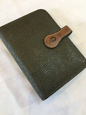 Organiser/Filofax-Mulberry Pocketbook-Taupe Scotchgrain & Cognac Leather