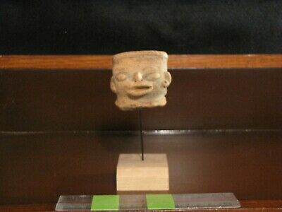 Pre Columbian, Pottery, Meso American Zone, Authentic Mounted Fragment, -500 900