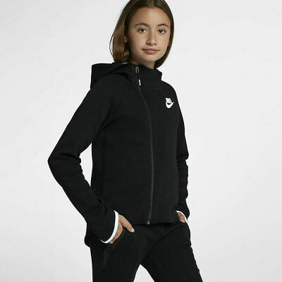 Girls Nike Tech Fleece Full Zip Hoodie Size L (146-156Cm) 12-13Years /939461 010