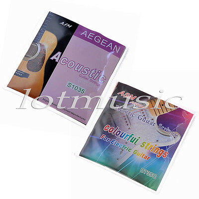 2 Sets Guitar Strings for Electric Guitar Parts Colorful
