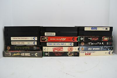 Lot of 18 VHS Movies American Pie Halloween Friday the 13th Horror Tapes Collect