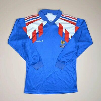 FRANCE 19901992 HOME Football Shirt Jersey Adidas Vintage