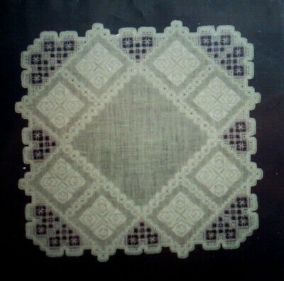 Hearts doily square  hardanger embroidery pattern