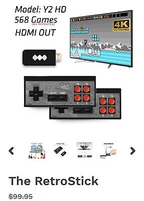 Mini Retro HD Data Frog Video Game Console Built in 568 Classic Games 4K- New