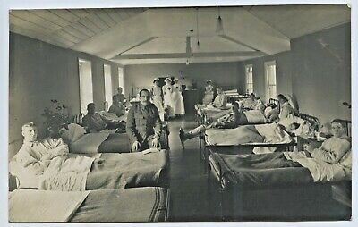 Ww1 Rp British Postcard Hospital Ward Found With Bellahouston Material H12