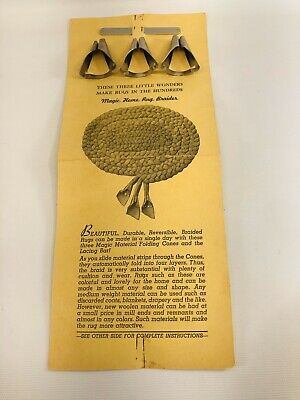 VINTAGE Home Rug Braiders  BRAIDING Tools/ Instructions