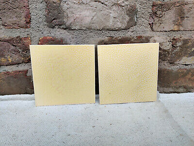 Vintage Architecture Furniture Tile Yellow Ceramic Tiles Pair Telephone Brand