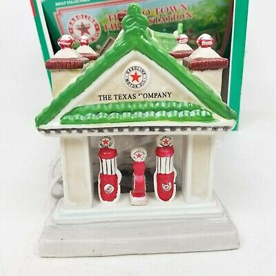 Texaco Town Filling Station- Limited Edition Christmas Porcelain 1995