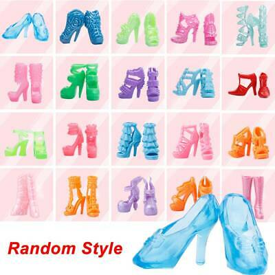 40 Pairs Doll Shoes Fashion Cute Colorful Assorted Shoes for Doll Random #Z