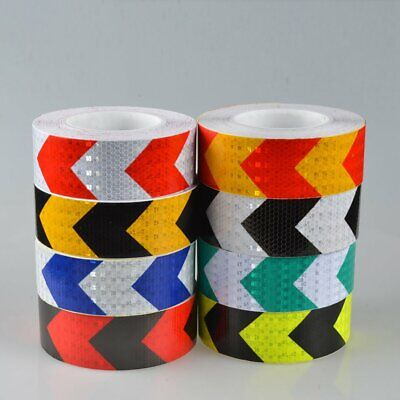 5CM Width PVC Reflective Safety Warning Tape Road Traffic Reflective Arrow h0