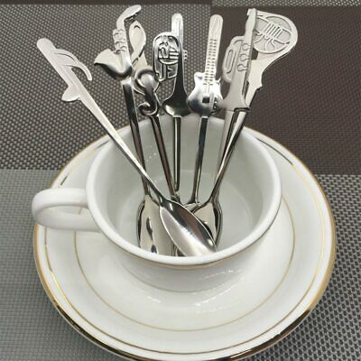 7pcs Stainless Steel Tea Spoon set Musical Instrument Coffee Spoon Small  4.7''
