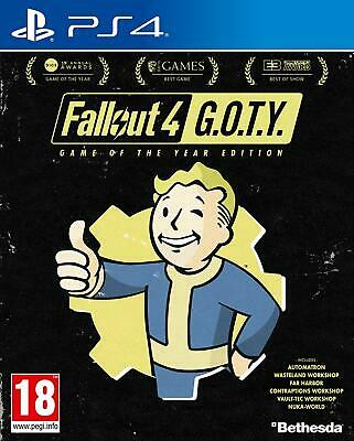 Fallout 4 GOTY PS4 NEW SEALED DISPATCHING TODAY ALL ORDERS PLACED BY 2 P.M.