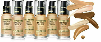MAX FACTOR MIRACLE MATCH BLUR & NOURISH FOUNDATION 30 ml -Please Choose Shade