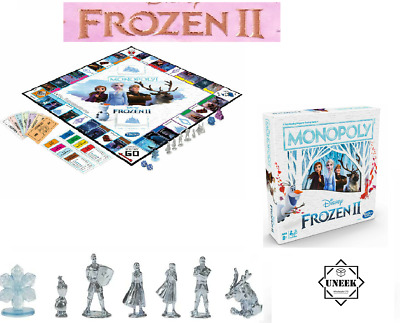 FROZEN 2 BOARD GAME MONOPOLY Family  Kids Fun Christmas Stocking Gift NDE5066 UK