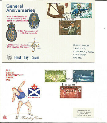 4 First Day Covers incl. 1970 Commonwealth Games & Horse Chestnut Tree U1511