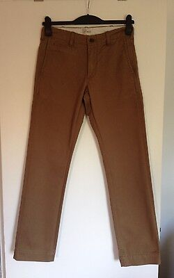 Men's/Teenage Boys Brown/Mink Gap Vintage Slim Fit Chino Trousers - Size 28 x 32