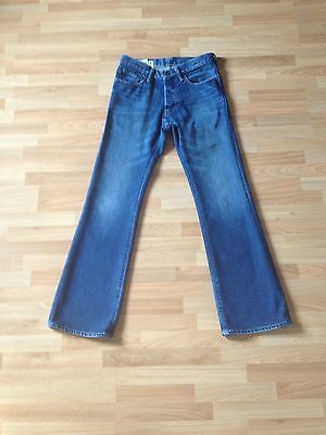 Boys Abercrombie Blue Baxter Low Rise Slim Bootcut Jeans-Age 14 Years-Immaculate
