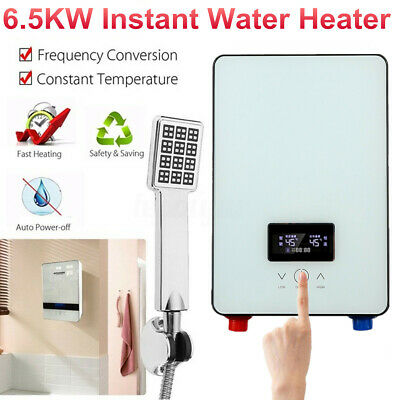 6500W Tankless Electric Instant Hot Water Heater Boiler Shower Bathroom    Gift