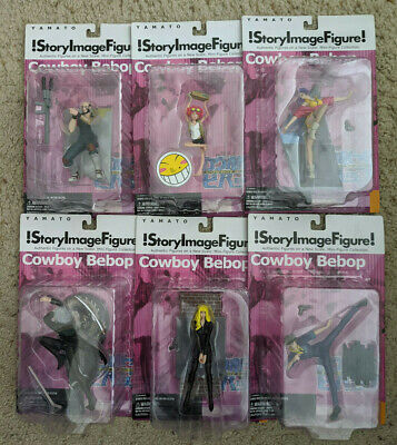 NEW UNOPENED! SUNRISE Cowboy Bebop Story Image Figures ALL 6 Characters Complete