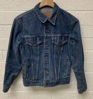 VTG 70's Gap Pioneer Denim Trucker Jacket Size 18 Adult Small