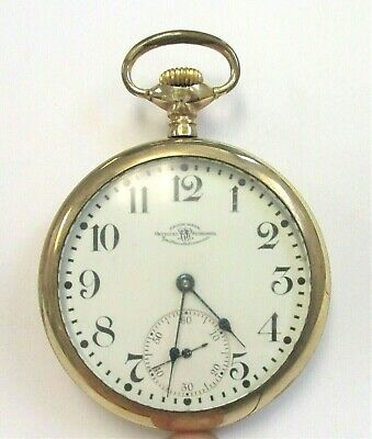 1907 BALL-WALTHAM 19 JEWELS SIZE 16s RAILROAD POCKET WATCH SERIAL #B221610