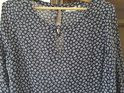 Womens Jeans West Nay/White Floral Blouse Size 10