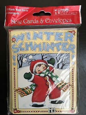 MARY ENGELBREIT WINTER SCHMINTER NOTE CARDS /& ENVELOPES PACKAGE OF 10