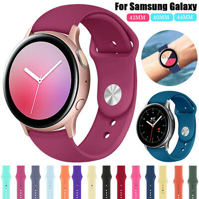 For Samsung Galaxy Watch Active 2 40 44mm Silicone Sports Strap Soft Watch Band
