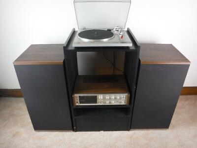 Vintage Record Player Stereo Amplifier Speakers Turntable Vinyl Combo System