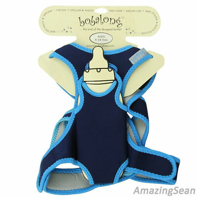 BOBALONG Bottle Pacifier Holder, Navy/Sky Blue New