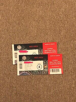 London Firework Display December Tickets x2 Red Area