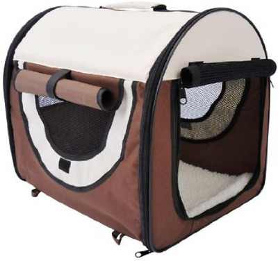 Pawhut Folding Fabric Soft Pet Crate Dog Cat Travel Carrier Cage Kennel House x