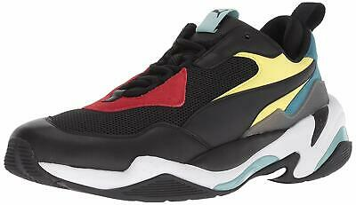 PUMA THUNDER SPECTRA Black Red Green Men's Trainers 11.5