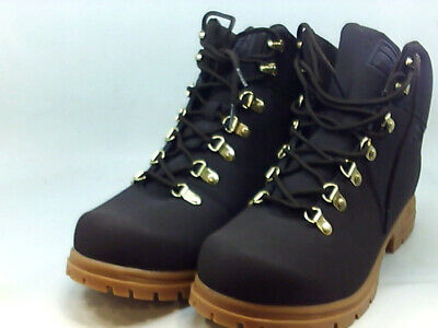 FILA MENS BROWN Ankle Boots Leather Nylon Lace Up Work Size
